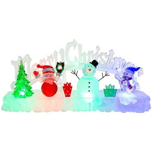Merry Christmas LED Icescape Scene